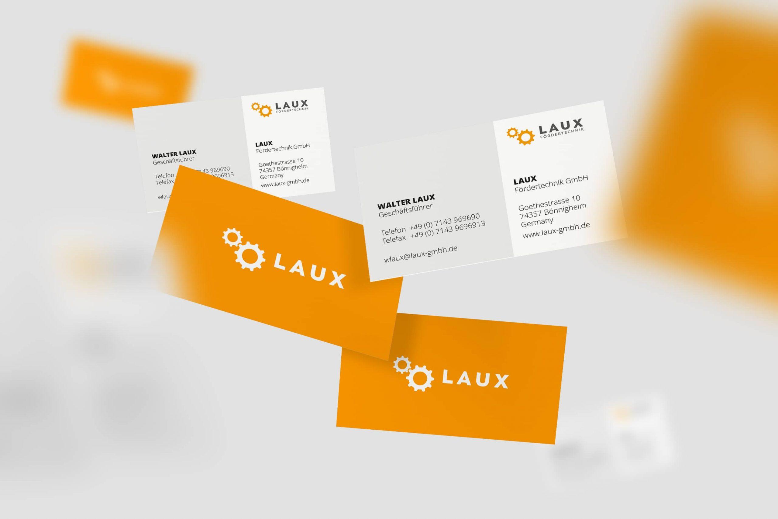 Laux GmbH Visitenkartendesign