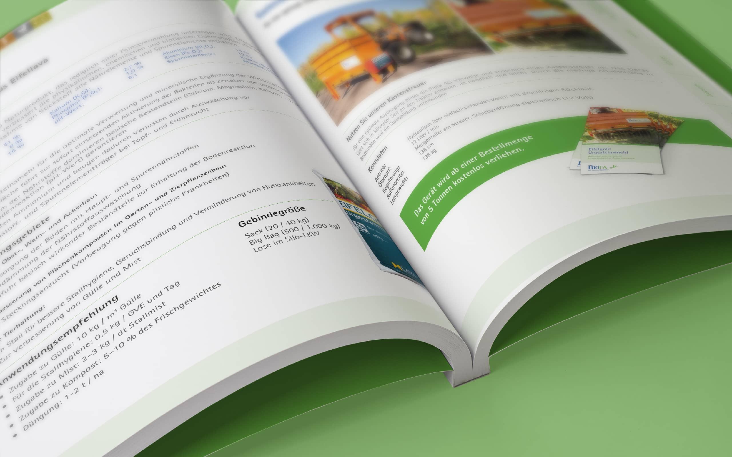 Biofa AG –Katalogdoppelseite
