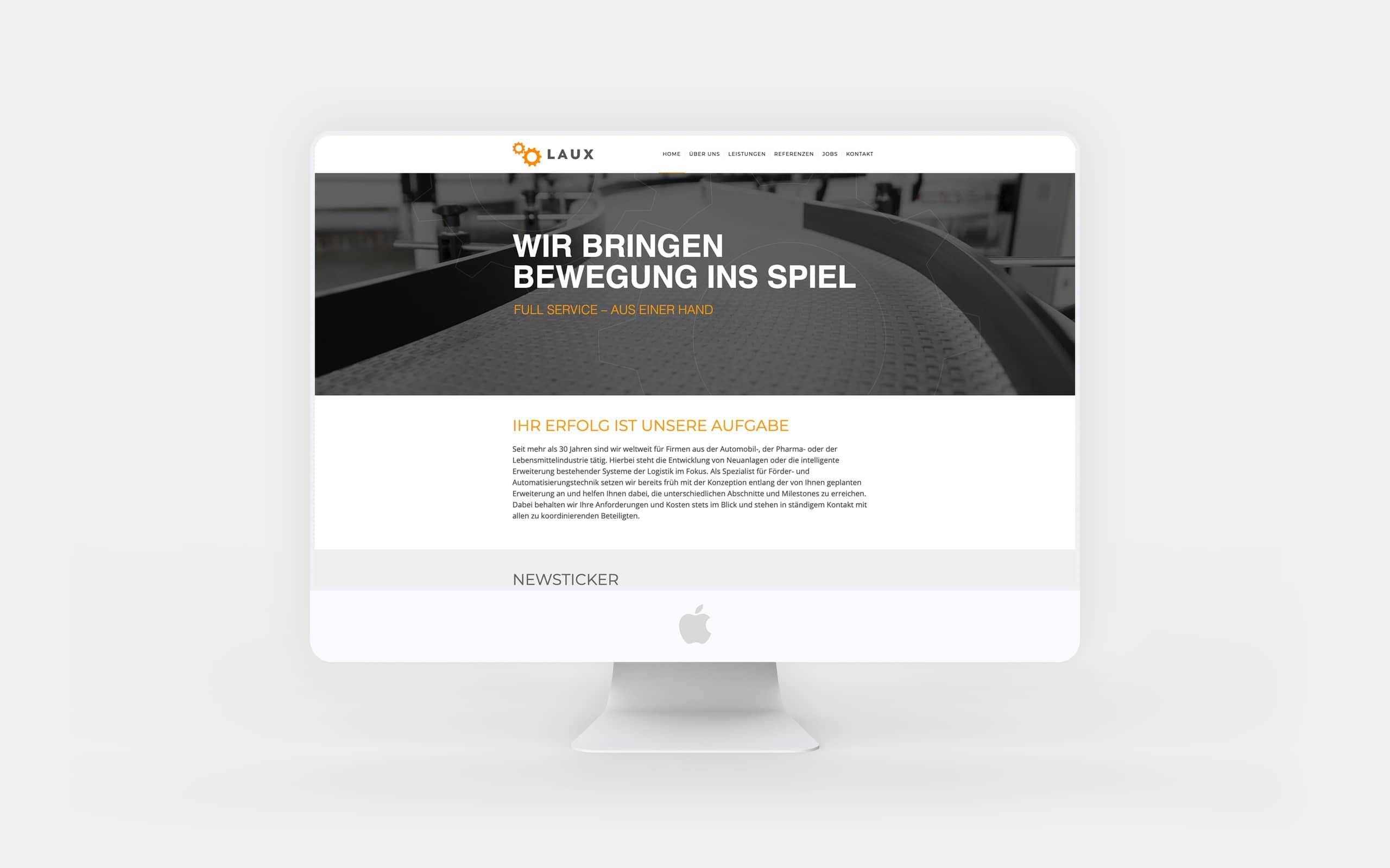 Laux GmbH – Webauftritt
